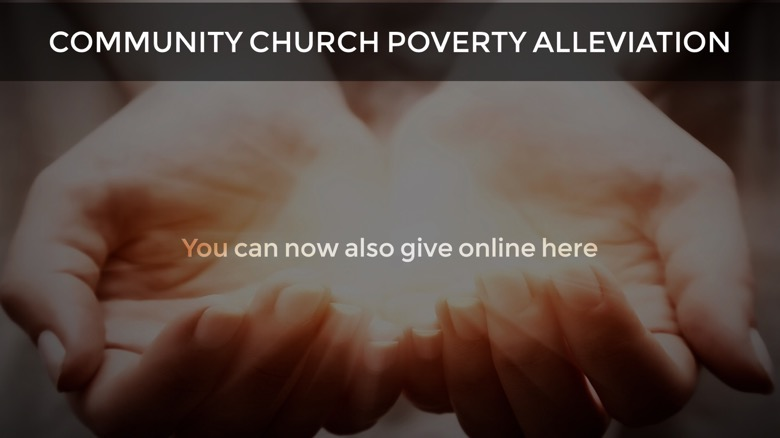 Poverty Alleviation - give online here