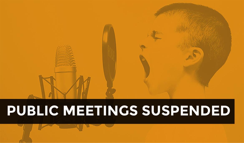 meetings suspended